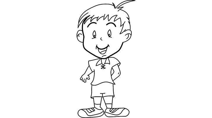 Erkek çocuk boyama sayfası