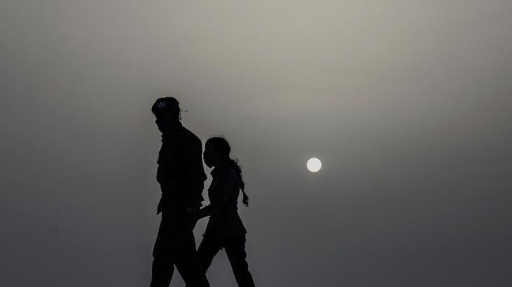 Karayipler Sahra toz bulutuyla kaplandı