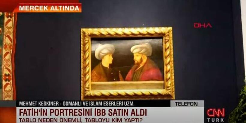 Fatih Sultan Mehmet tablosu satıldı!