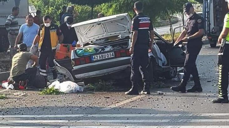 Son dakika... Konya'da otomobil, takla attı: 3 ölü, 2 yaralı!