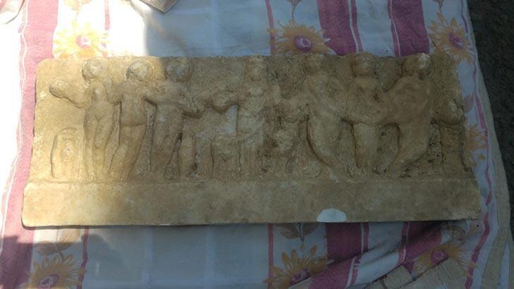 Ataşehir'de evin bahçesinde tarihi eser bulundu!