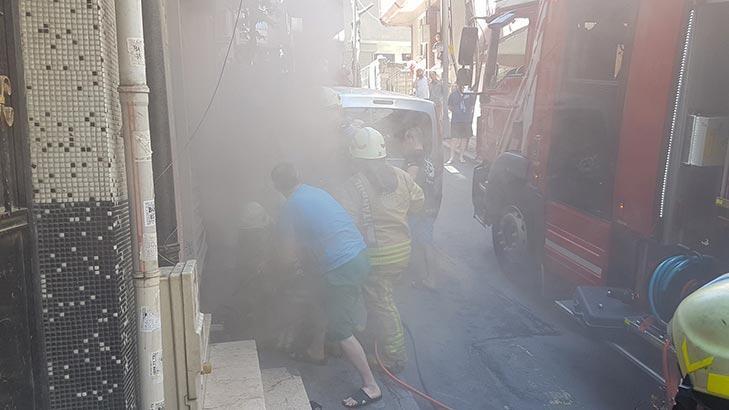 Son dakika... Şişli'de yangın paniği! Herkes sokağa döküldü