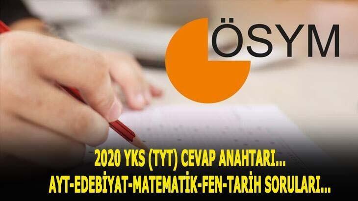 2020 YKS cevap anahtarı TIKLA ÖĞREN! - ÖSYM açıkladı: YKS-TYT-AYT-YDT soruları ve cevapları erişime açıldı