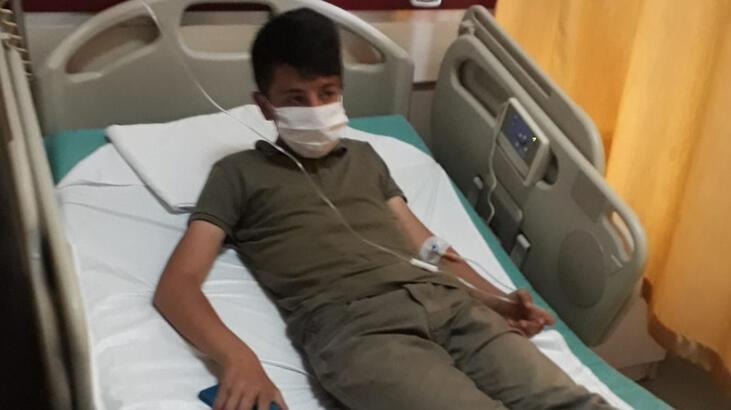 Erzurum'da yılanın ısırdığı çocuk hastanede tedavi altına alındı