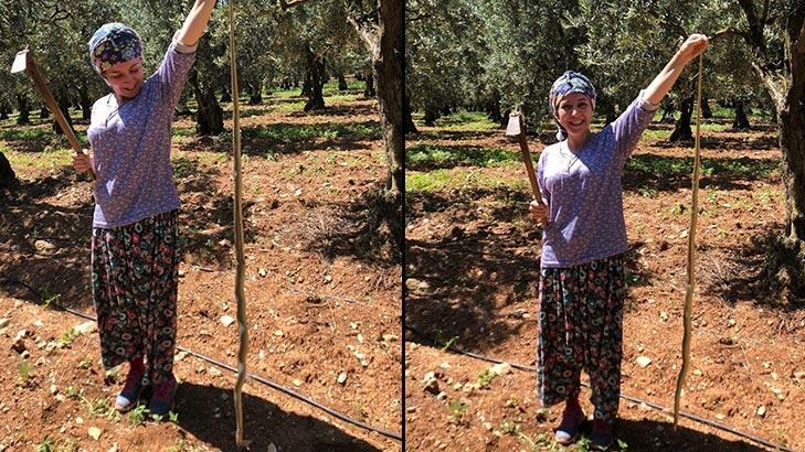 Son dakika...Bursa'da dev yılan şoku! 2,5 metreyle poz verdi