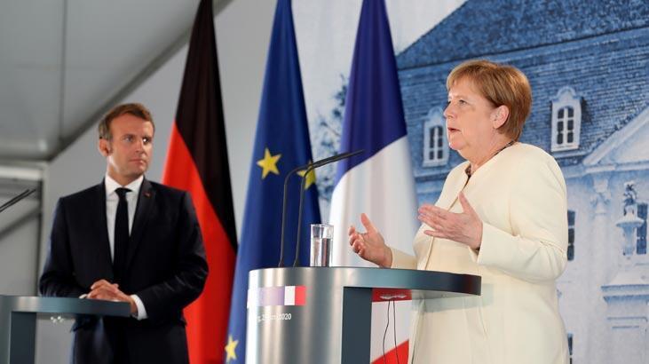 Merkel'den 'ekonomi' Macron'dan 'Hafter' itirafı