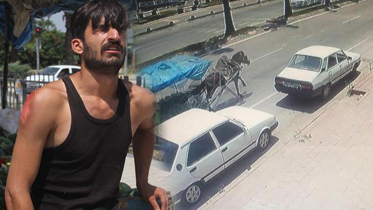 Kaçan at otomobile çarptı, polisi alarma geçirdi!