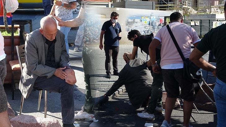 İstanbul'da bir kişi engelli adamı darp etti!