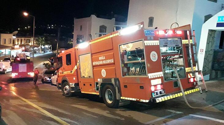 Muğla Bodrum'da, otel odasında çıkan yangın söndürüldü