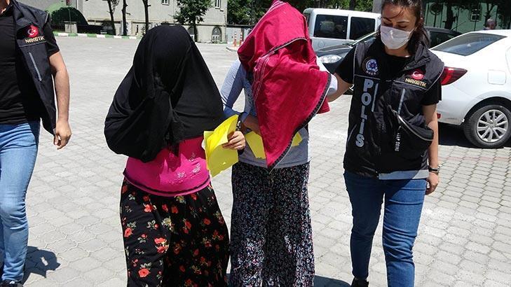 Samsun'da amca kızları uyuşturucu ticaretinden tutuklandı!