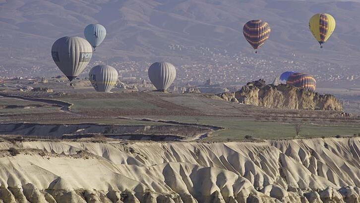 Kapadokya'da sıcak hava balon turları 1 Ekim'e kadar yapılamayacak