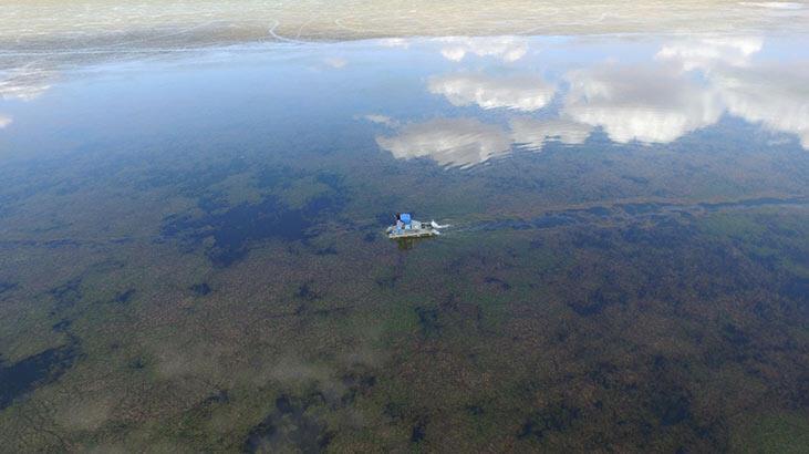 Çavuşçu Göl'de temizlik çalışması başlatıldı