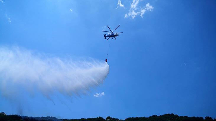 Burdur'da makilik yangını