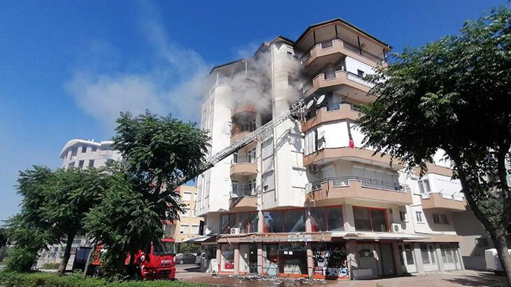Antalya Manavgat'ta ev yangını