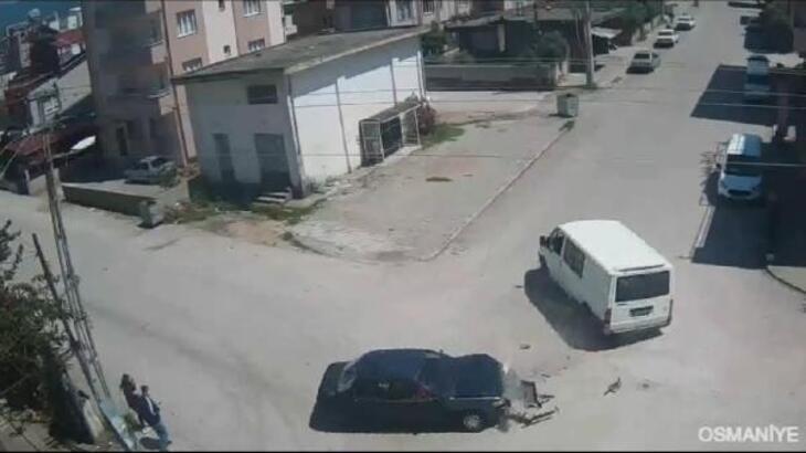 Osmaniye'de 3 ayrı kaza kamerada