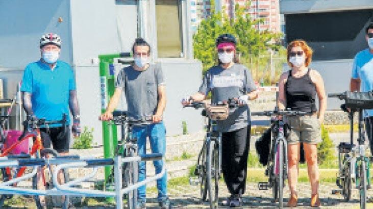 Bisikletlilere özel istasyon