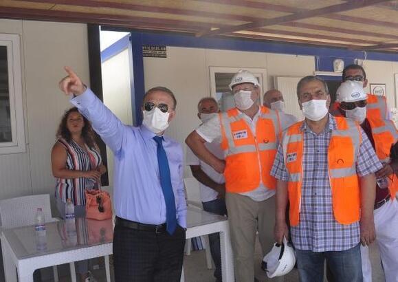 Rektör Ünal, fakülte inşaatında incelemede bulundu
