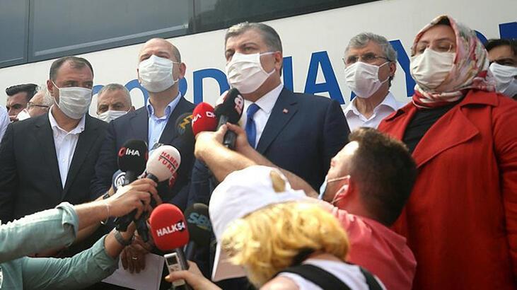 3 Bakan Hendek'te olay yerinde: 48 kişi taburcu edildi