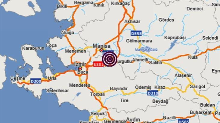 Son dakika haberi: Manisa'da deprem! Büyüklüğü...