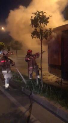 Otobüste çıkan yangın kısa sürede söndürüldü