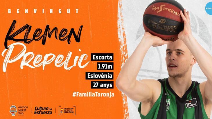 Valencia, Sloven basketbolcu Klemen Prepelic'i kadrosuna kattı