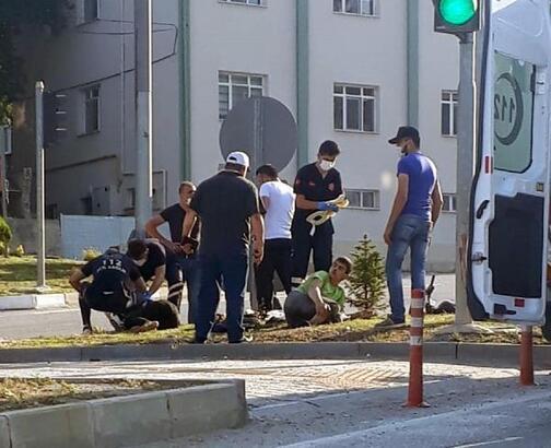 Kütahya'da otomobil ile motosiklet çarpıştı : 2 yaralı