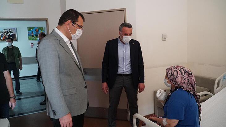 AK Parti'li Yavuz, havai fişek fabrikasındaki patlamada yaralananları ziyaret etti
