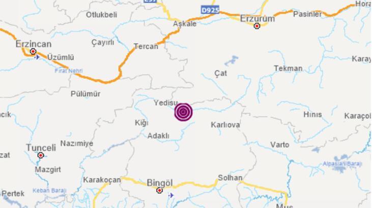 Son dakika haberi... Bingöl'de korkutan deprem