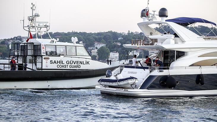 İstanbul Boğazı'nda teknelerde corona virüs denetimi