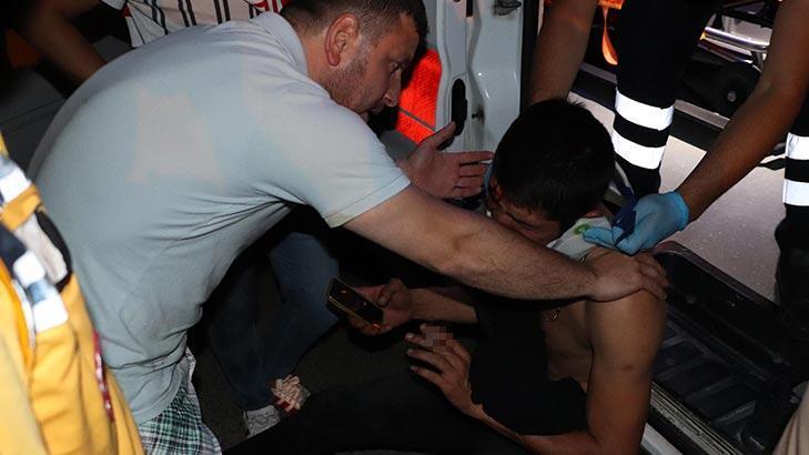 Zonguldak'ta bir kişi ambulansa içki şişeleriyle binmek istedi!