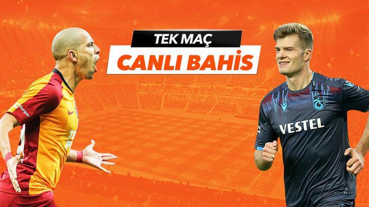 Galatasaray - Trabzonspor maçının heyecanı Tek Maç ve Canlı Bahis seçenekleriyle Misli.com'da