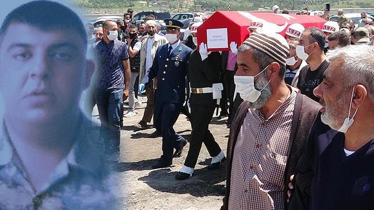 Kalp krizinden yaşamını yitiren er, Erzurum'da toprağa verildi!
