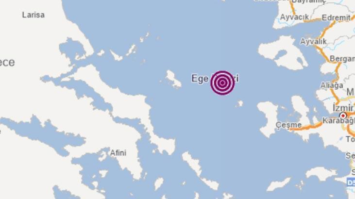Son dakika... Ege Denizi'nde deprem!
