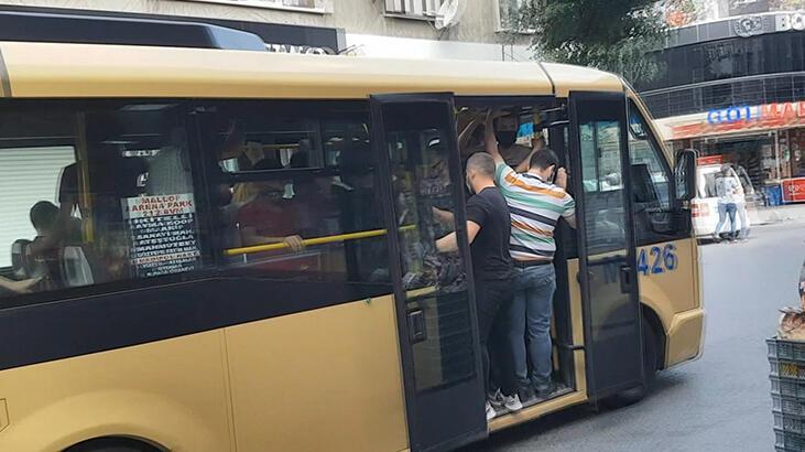Uyarılar fayda etmedi! İstanbul'da minibüsler tıka basa doldu