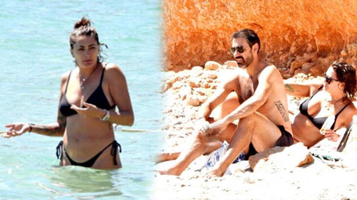 Robert Pires ve Jessica Lemarie Ibiza tatilinde