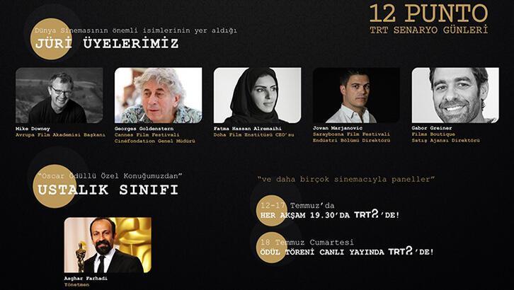 Dünyaca ünlü isimler 12 Punto TRT Senaryo Günleri'nde jüri oldu