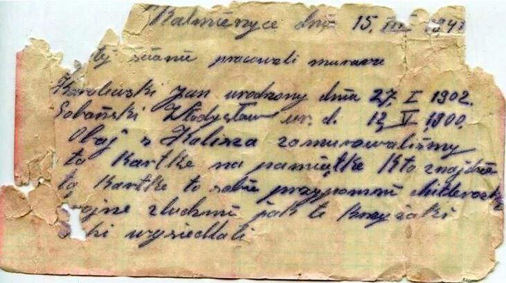 İkinci Dünya Savaşı'na ait şişeye gizlenmiş mektup bulundu