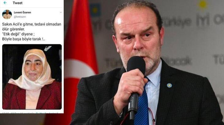 İYİ Partili Levent Özeren'in skandal sözlerine tepki yağıyor