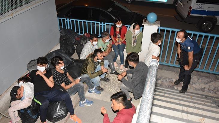 39 sığınmacıyı Yunanistan diye Aydın'a bıraktılar