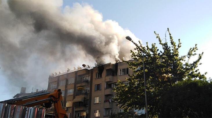 Bursa'da ev yangını, 1 saatte söndürüldü