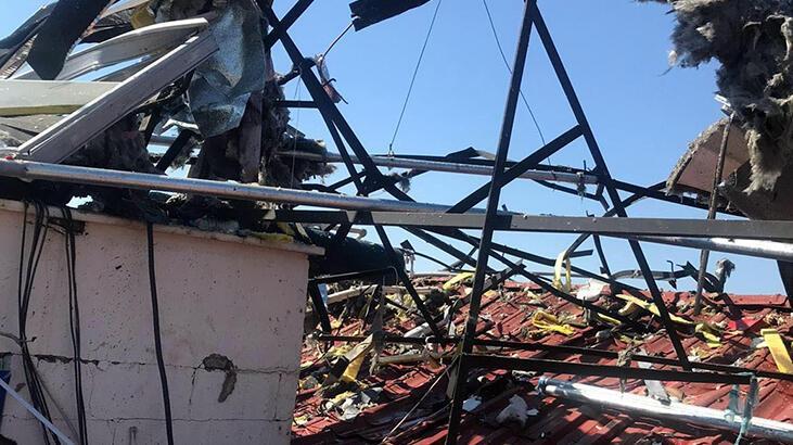Muğla'da otel çatısındaki güneş enerjisinin tankı patladı! Yaralılar var