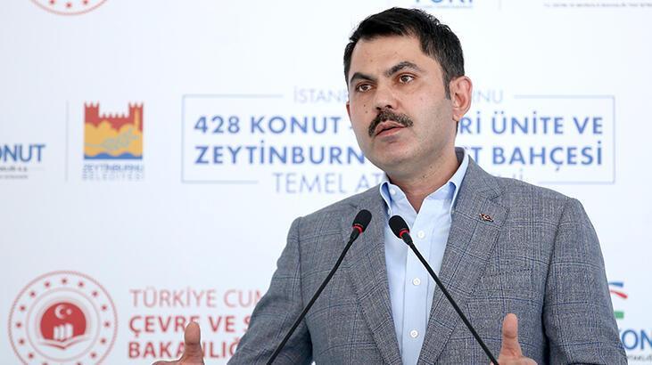 Bakan Kurum, Zeytinburnu'nda temel atma törenine katıldı