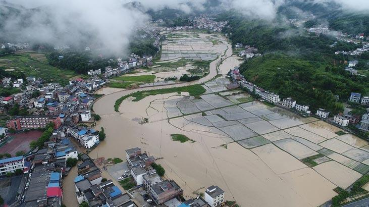 Çin corona virüsten sonra sel felaketi yaşıyor! 5 milyondan fazla kişi...
