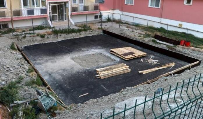 Site sakinlerinden, park alanına inşaat tepkisi