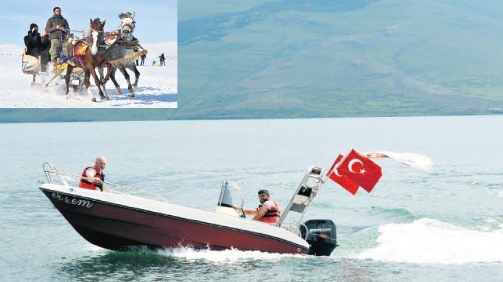 Kışın atlı kızak yazın tekne turu