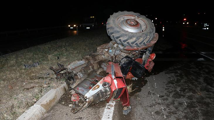 Traktör ile otomobil çarpıştı: 1 ölü