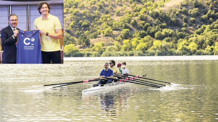 Bakan Kasapoğlu Cedi Osman'ı ağırladı
