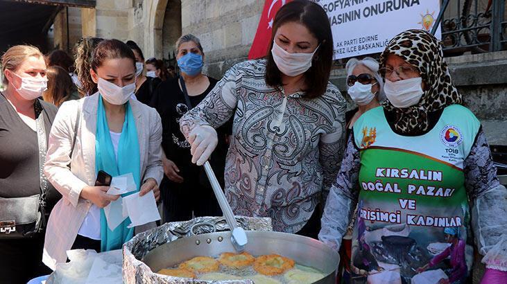 AK Parti Edirne'de, 15 Temmuz şehitleri ve Ayasofya için lokma dağıttı