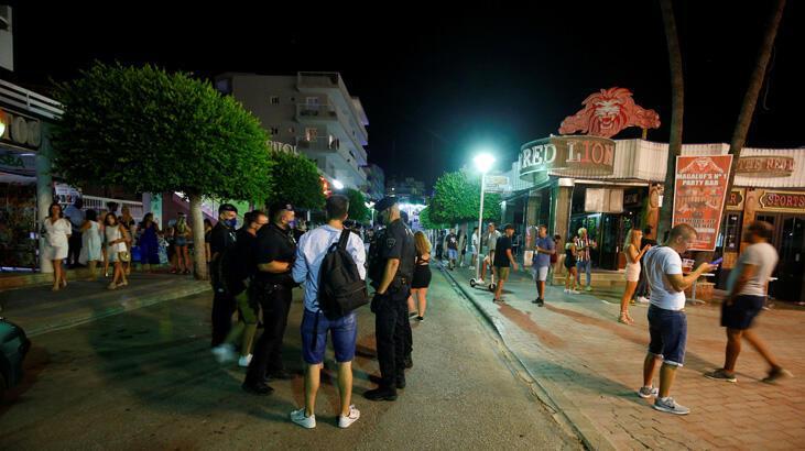 İngiliz ve Alman turistler, turizm merkezinde barların kapatılmasına yol açtı