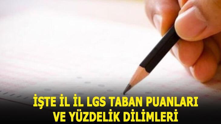 2020 LGS taban puanları ve yüzdelik dilimleri! İl il MEB Anadolu Lisesi, Fen lisesi LGS taban puanları- kontenjanları...